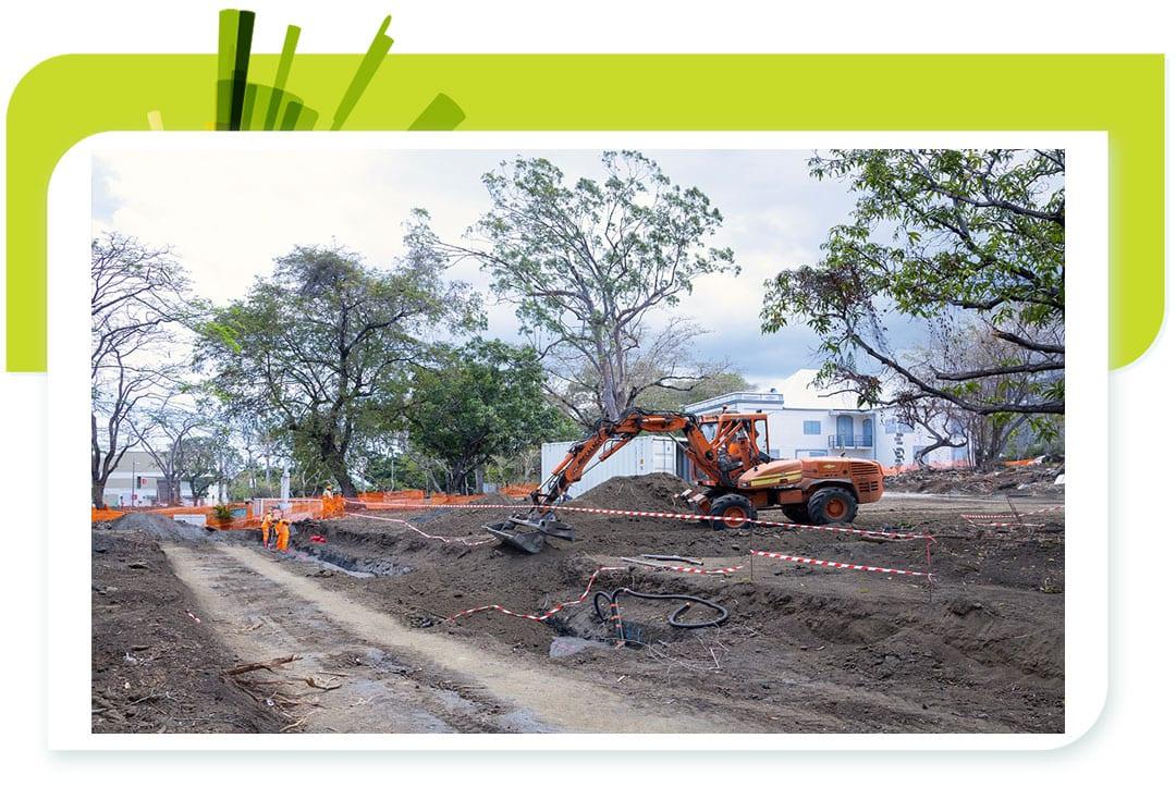 Info travaux : aménagement de la future place centrale